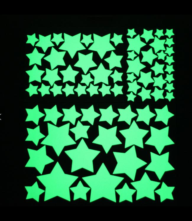 Muursticker glow in the dark sterren