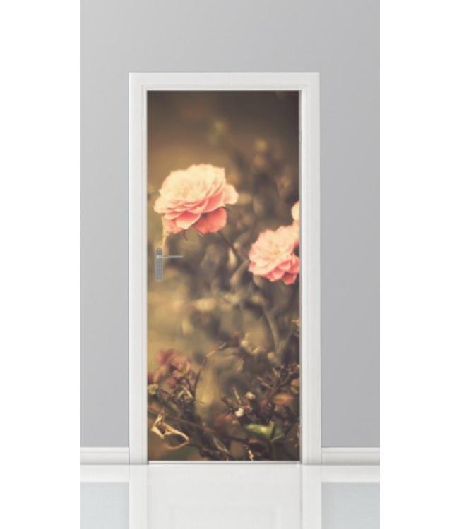 Deursticker bloemen 12