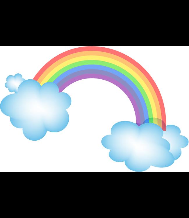 Muursticker mooie regenboog