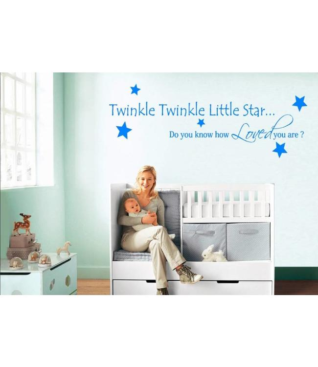 Muursticker twinkle twinkle little star versie 2