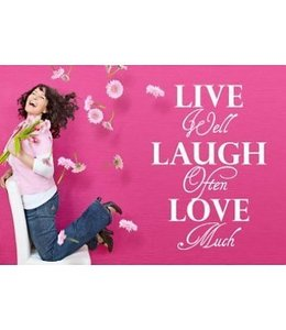 Muursticker Live well laugh often love much