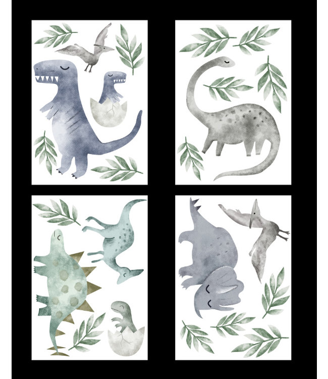 Muursticker mooie dino's -dinosaurus