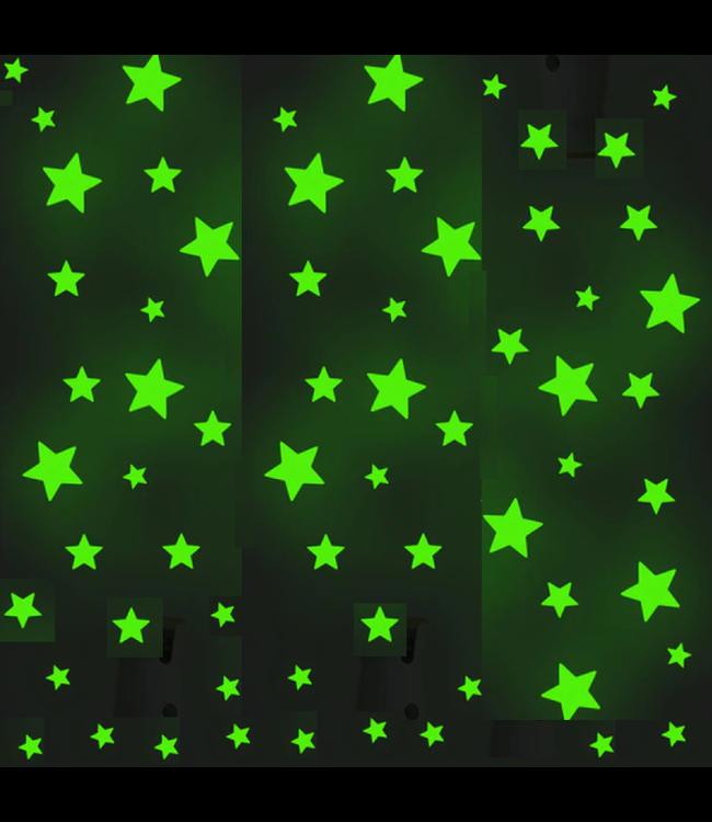 Muursticker glow in the dark sterren 166 stuks