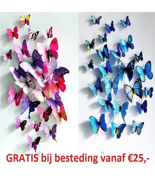 Gratis 3D vlinders bij besteding vanaf €25,-