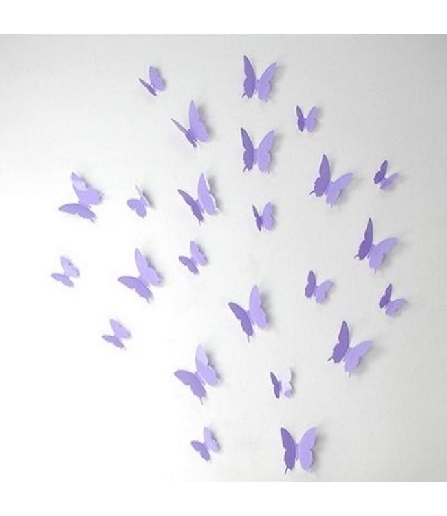 3D vlinders lavendel