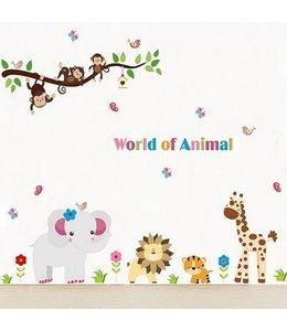 Muursticker lieve dieren