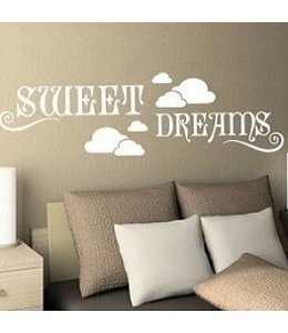 Muursticker sweet dreams met wolkjes