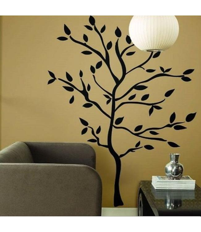 Muursticker mooie zwarte boom