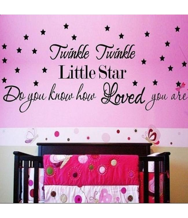 MuurstickerTwinkle twinkle little star