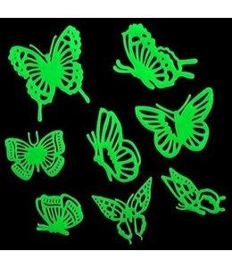 Glow in the dark vlinders