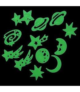Glow in the dark sterren en planeten