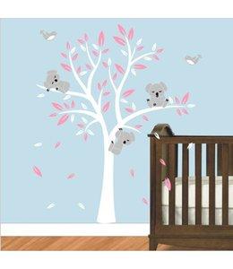 Muurdecoratie Babykamer Meisje.Muursticker Boom Online Babykamer Of Kinderkamer Muurstickers Zo