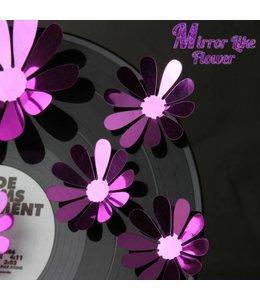 3D bloemen spiegel effect paars