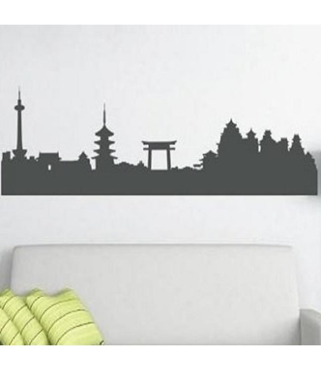 Muursticker skyline Kyoto