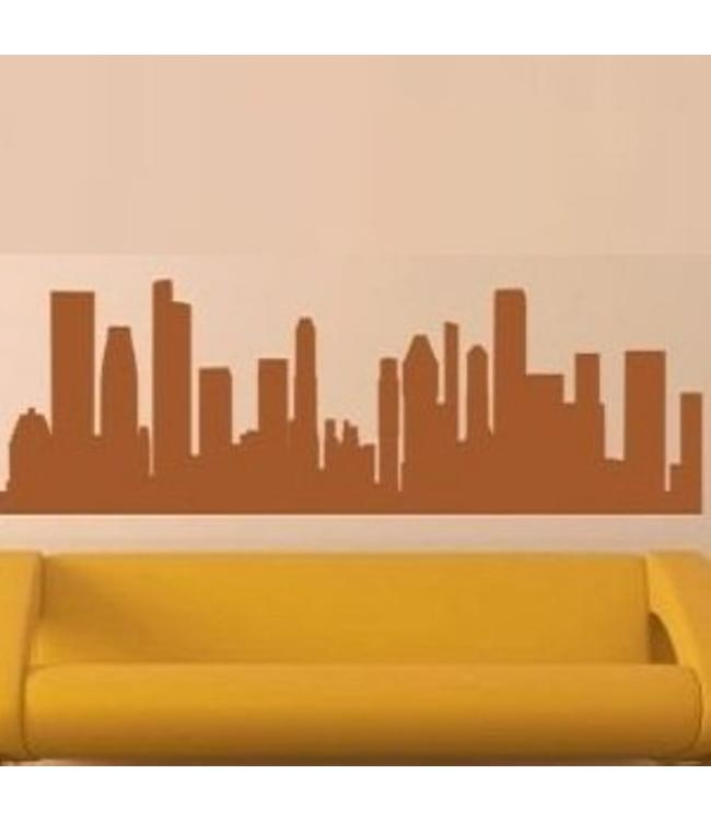 Muursticker skyline Singapore