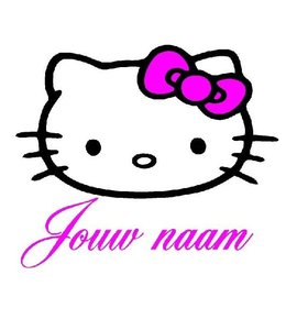 Naamsticker hello kitty versie 2