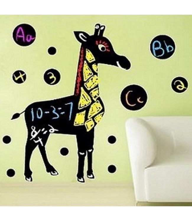 Muursticker Krijtfolie giraffe