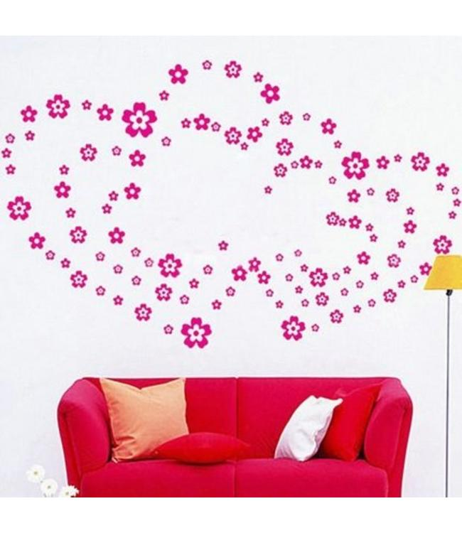 Muursticker bloemen (verschillende kleuren)
