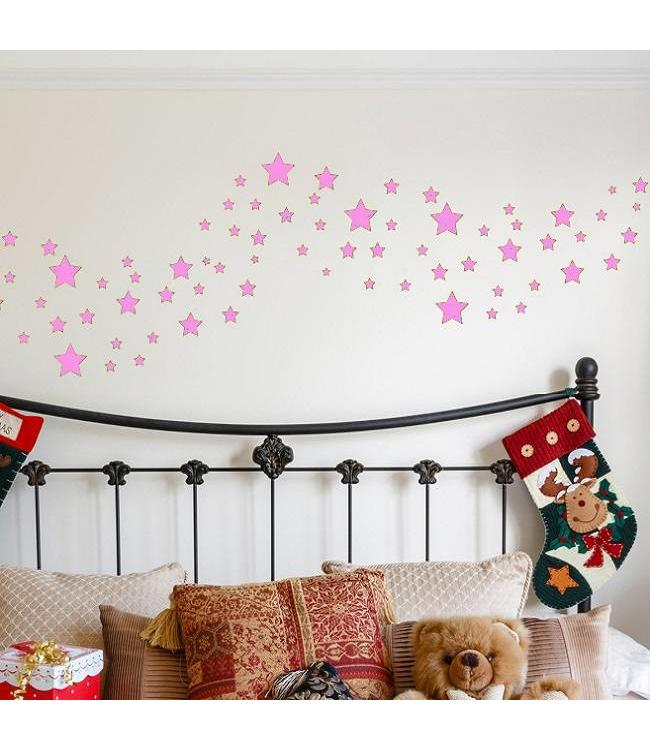 Roze Muurdecoratie Kinderkamer.Muursticker Sterren Muurstickers Voor De Kinderkamer En Babykamer