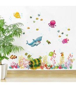 Muursticker zee dieren