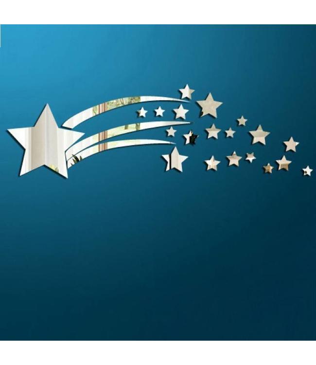 Muursticker spiegel sterren versie 2