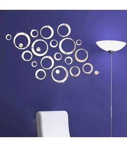 Muursticker mooie spiegel design ringen