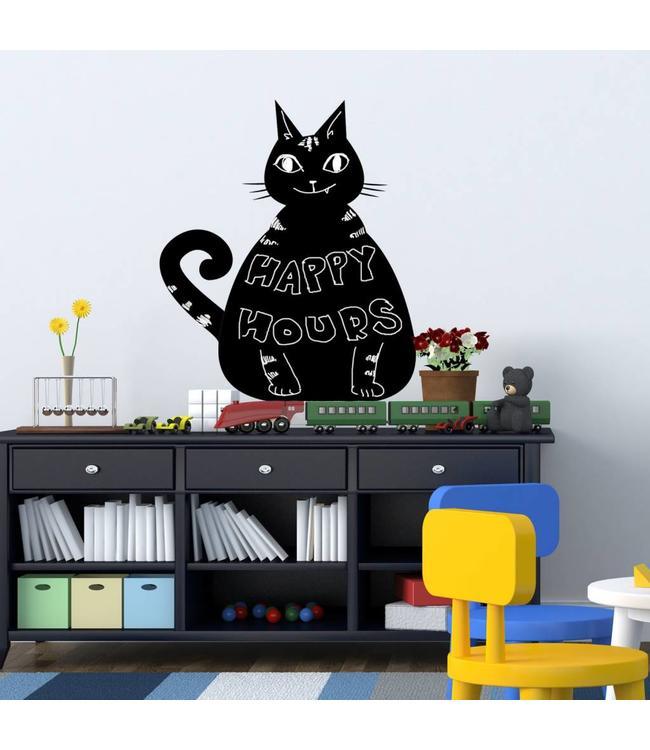 Muursticker krijtbord kat