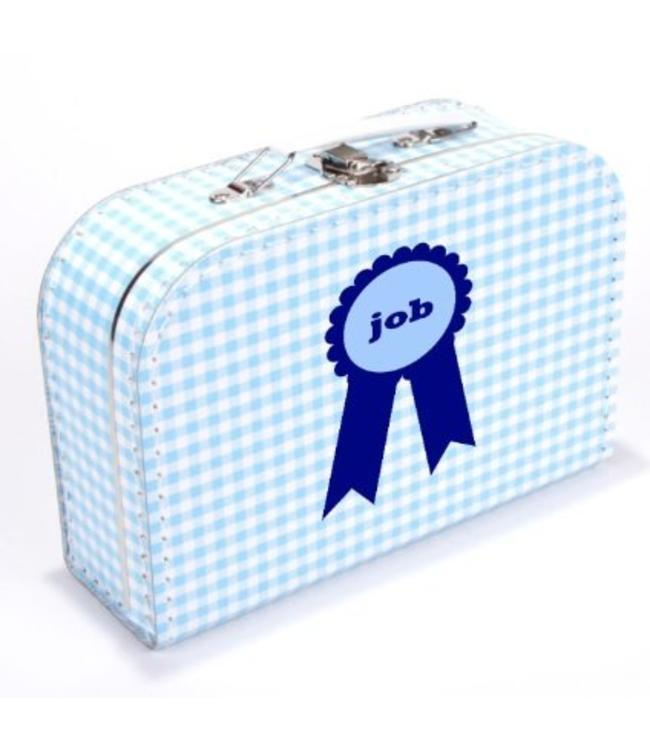 Kinderkoffertje met naam badge jongen