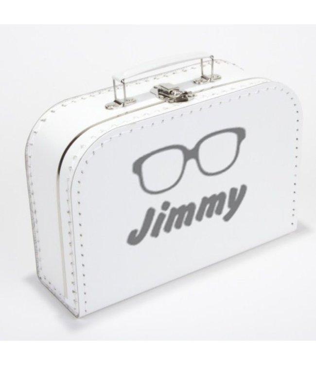 Kinderkoffertje met naam en bril