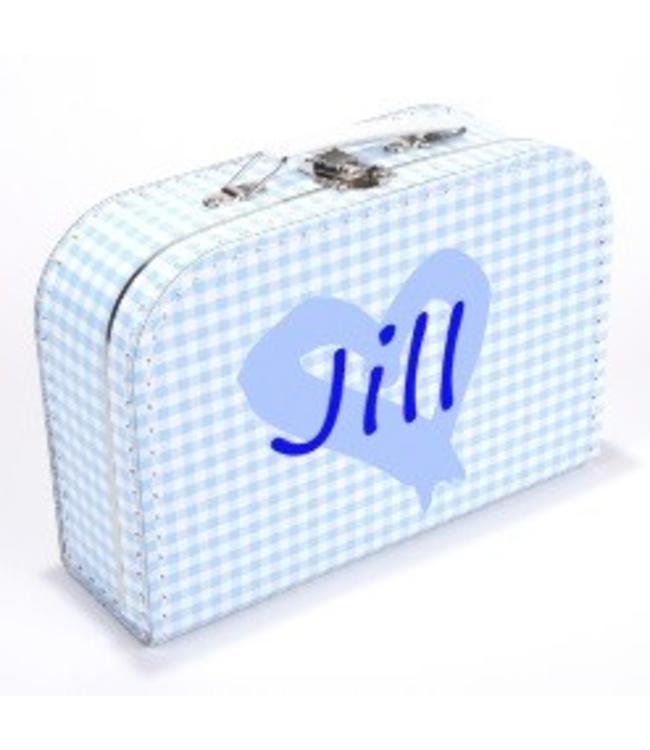 Kinderkoffertje met naam en hart