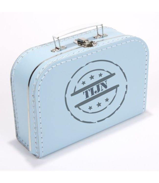 Kinderkoffertje met naam stempel