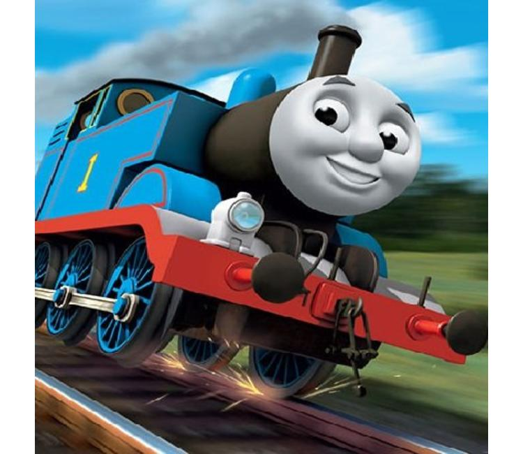 Wonderbaar Fotobehang Thomas de trein XL - Muurstickers&zo KX-14