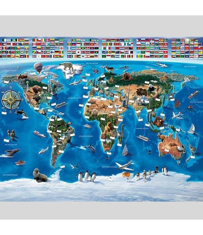 Fotobehang wereldkaart XXL