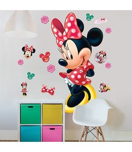 Muursticker Minnie Mouse XXL
