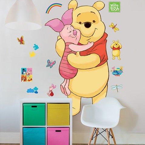 Muursticker Winnie The Pooh.Muursticker Winnie The Pooh Xxl Muurstickers Kinderkamer