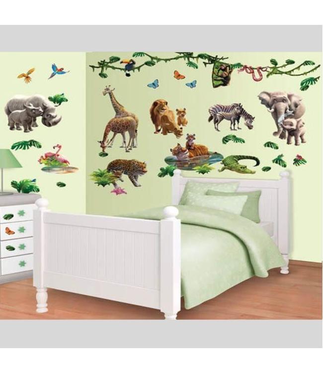 Muursticker jungle dieren