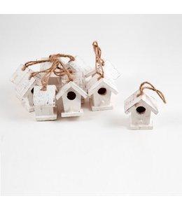 Hanger vogelhuisje wit