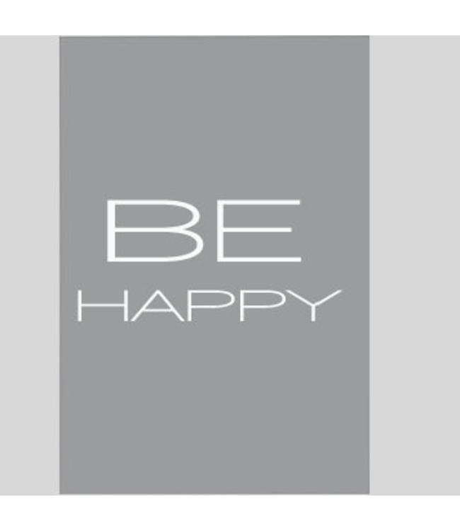 Tekstbord be happy