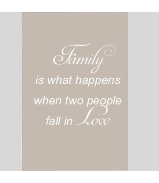 Tekstbord family is