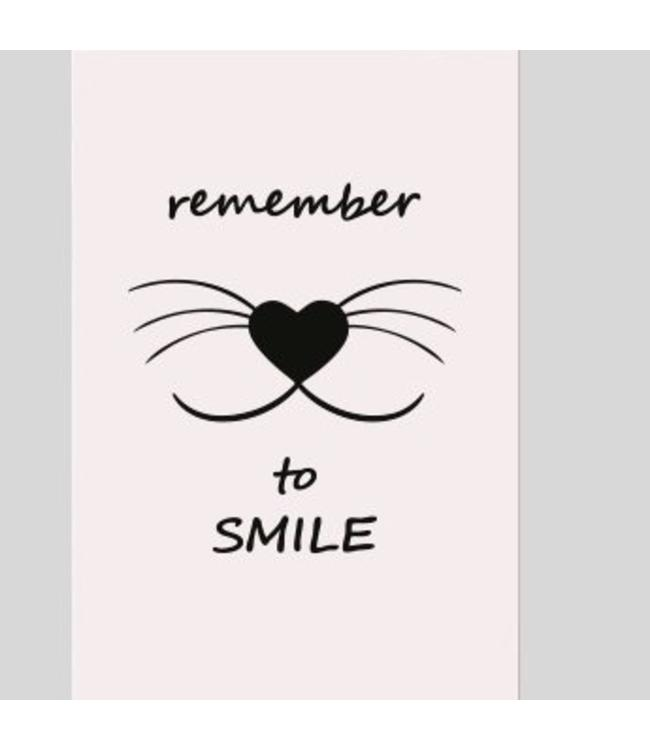Tekstbord remember to smile