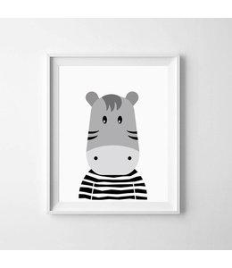Kinderposter nijlpaardje A3