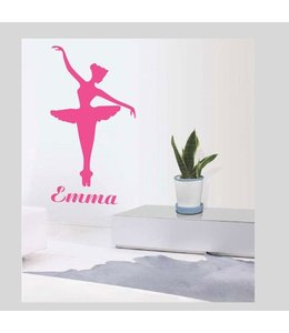 Muursticker ballerina Emma by Coart