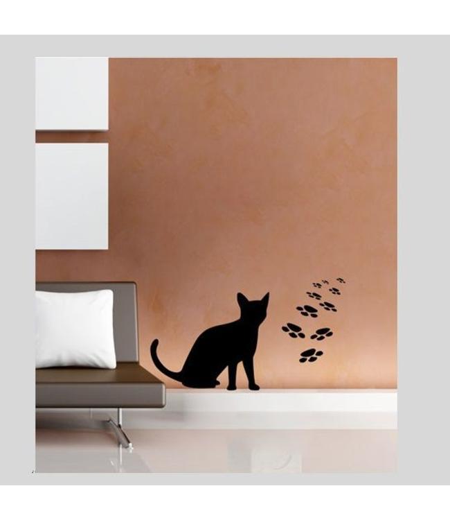 Muursticker katje by Coart