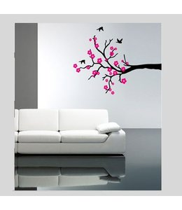 Muursticker cherry blossom by Coart