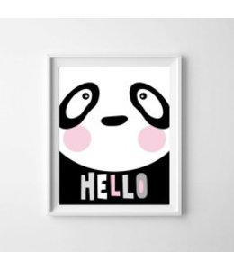 Kinderposter lieve panda