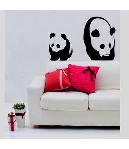 Muursticker panda by Coart