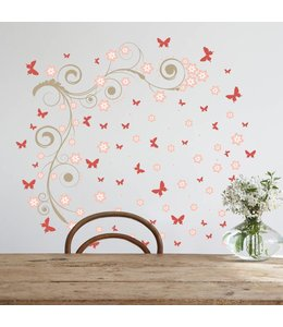 Muursticker vlinder invasie