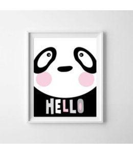 Kinderposter lieve panda A3