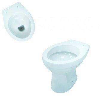 VIGOUR Stand-Flachspül-WC one Abgang waagerecht weiß