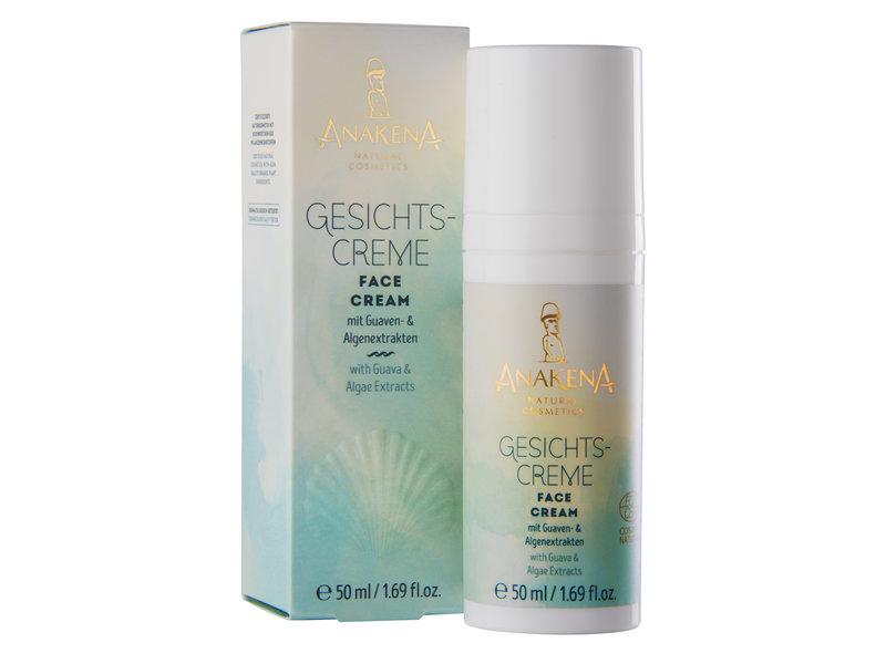 ANAKENA ANAKENA Gesichtscreme mit Extrakten von Kurkuma, Bio-Guaven und  Bio-Algen und Coenzym Q10